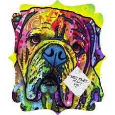 Dean Russo Hey Bulldog Quatrefoil Memo Board