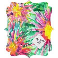 Joy Laforme Floral Confetti Quatrefoil Memo Board