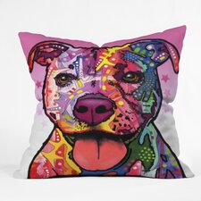 Dean Russo Cherish The Pitbull Throw Pillow