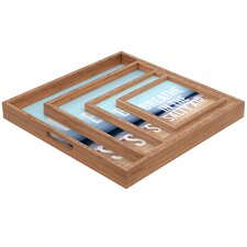 <strong>DENY Designs</strong> Leah Flores Breathe Square Tray