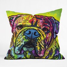 <strong>DENY Designs</strong> Dean Russo Hey Bulldog Throw Pillow