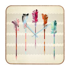 Iveta Abolina Feathered Arrows Clock