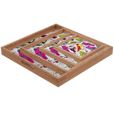 Mary Beth Freet Couture Home Birds Square Tray