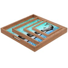 <strong>DENY Designs</strong> Garima Dhawan New Friends 3 Square Tray