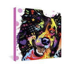 <strong>DENY Designs</strong> Dean Russo Border Collie Gallery Wrapped Canvas