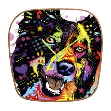 <strong>DENY Designs</strong> Dean Russo Border Collie Wall Clock