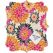 Andrea Victoria Summer Tango Floral Quatrefoil Memo Board
