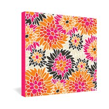 Andrea Victoria Summer Tango Floral Gallery Wrapped Canvas