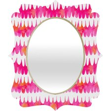 <strong>DENY Designs</strong> Betsy Olmsted Owl Feather Quatrefoil Mirror