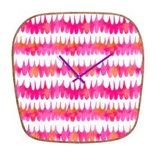 Betsy Olmsted Owl Feather Wall Clock