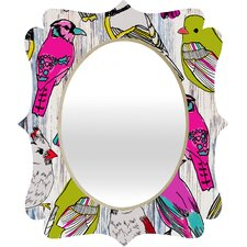 <strong>DENY Designs</strong> Mary Beth Freet Couture Home Birds Quatrefoil Mirror