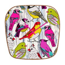 Mary Beth Freet Home Birds Wall Clock