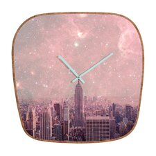 Bianca Green Stardust Covering NYC Wall Clock