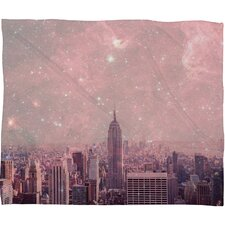 Bianca Green Stardust Covering New York Polyesterrr Fleece Throw Blanket