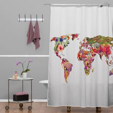 Bianca Woven Polyester Its Your World Shower Curtain