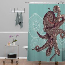 Valentina Ramos Polyester Octopus Bloom Shower Curtain