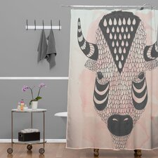 Wesley Bird Polyester Buffy Shower Curtain