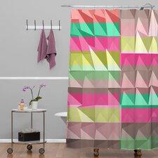 Jacqueline Maldonado Woven Polyester Pyramid Scheme Shower Curtain