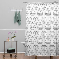 Wesley Bird Polyester Diamond Print Shower Curtain