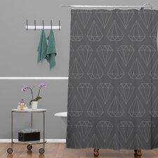 Wesley Bird Polyester Diamond Print Shower Curtain