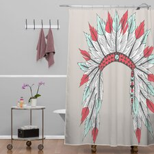 Wesley Bird Polyester Dressy Shower Curtain