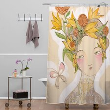 Cori Dantini Woven Polyester Beauty On The Inside Shower Curtain