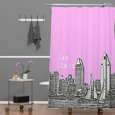 Bird Ave Woven Polyester San Diego Shower Curtain