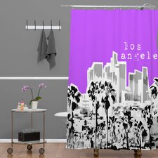 Bird Ave Woven Polyester Los Angeles Shower Curtain