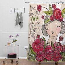 Cori Dantini Woven Polyester Dear Sweet Girl Shower Curtain