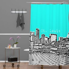 <strong>DENY Designs</strong> Bird Ave Woven Polyester St Louis Shower Curtain