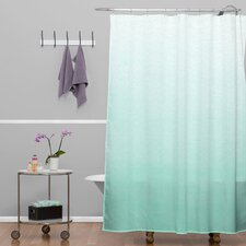 Social Proper Polyester Mint Ombre Shower Curtain