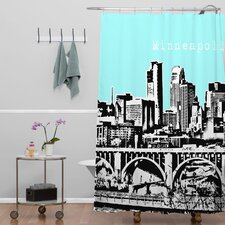 <strong>DENY Designs</strong> Bird Ave Woven Polyester Minneapolis Shower Curtain