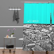 Bird Ave Woven Polyester Athens Shower Curtain