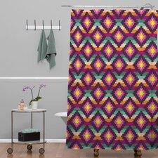 Bianca Woven Polyester Aztec Diamonds Hammock Shower Curtain