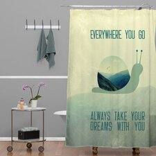 Belle13 Always Take Your Dreams With You Polyester Shower Curtain