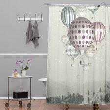 Belle13 Winter Dreamflight Polyester Shower Curtain