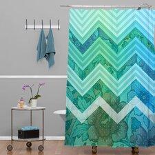 Gabi Azul Polyester Shower Curtain