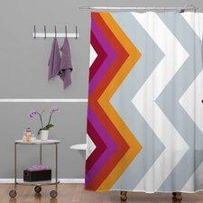 Karen Harris Woven Polyester Modernity Solstice Warm Chevron Shower Curtain