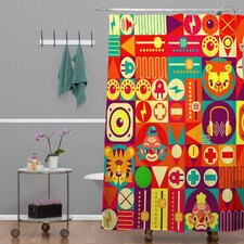 Chobopop Elecro Polyester Circus Shower Curtain