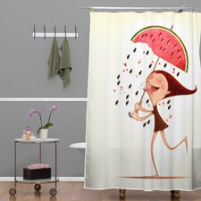 Jose Luis Guerrero Woven Polyester Watermelon Shower Curtain