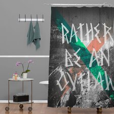 Wesley Bird Polyester Rather Be An Outlaw Shower Curtain