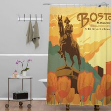 Anderson Design Group Woven Polyester Boston Shower Curtain
