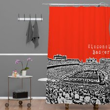Bird Ave Woven Polyester Wisconsin Badgers Shower Curtain