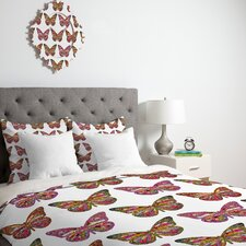<strong>DENY Designs</strong> Bianca Green Butterflies Fly Duvet Cover Collection