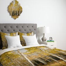 <strong>DENY Designs</strong> Bird Wanna Whistle Golden Aspen Duvet Cover Collection