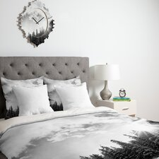 <strong>DENY Designs</strong> Bird Wanna Whistle White Mountain Duvet Cover