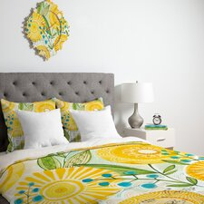 <strong>DENY Designs</strong> Cori Dantini Sun Burst Flowers Duvet Cover Collection
