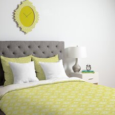 <strong>DENY Designs</strong> Caroline Okun Yellow Spirals Duvet Cover Collection