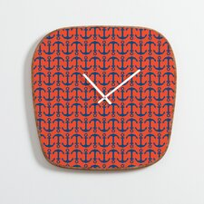 <strong>DENY Designs</strong> Andrea Victoria Ahoy Anchors Wall Clock