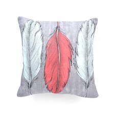 Wesley Bird Feathered Polyester Throw Pillow